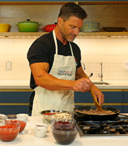 Clark Bartram, Performance & Nutrition Industry Expert for SixPackAbs, cooks his chili recipe that burns belly fat ans boost testosterone. He recommends it as a perfect dish during the Super Bowl.